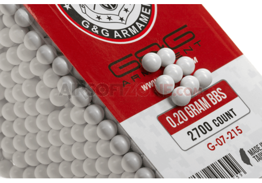 0.20g Perfect BB 2700rds White (G&G)