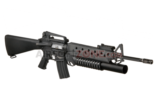 M16A3 with M203 Grenade Launcher Black (G&P)