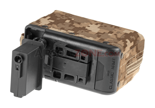 Boxmag M249 1200rds Tan (Classic Army)