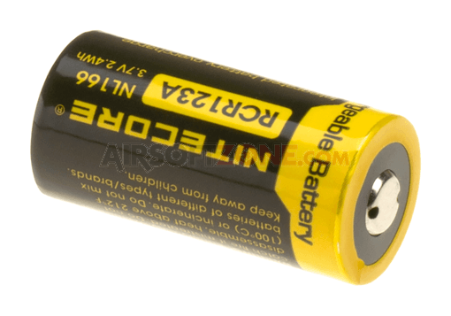 RCR123 Battery 3.7V 650mAh (Nitecore)